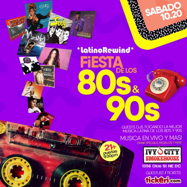 Flyer for Latino Rewind: La Gran Fiesta de los 80s y 90s