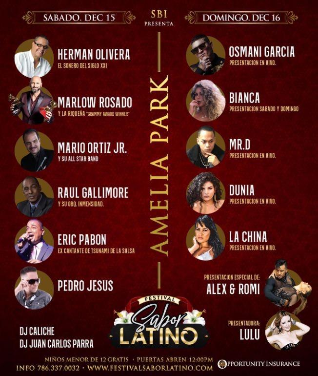 Flyer for Sabor Latino En Hialeah,FL - Sabado- CANCELADO