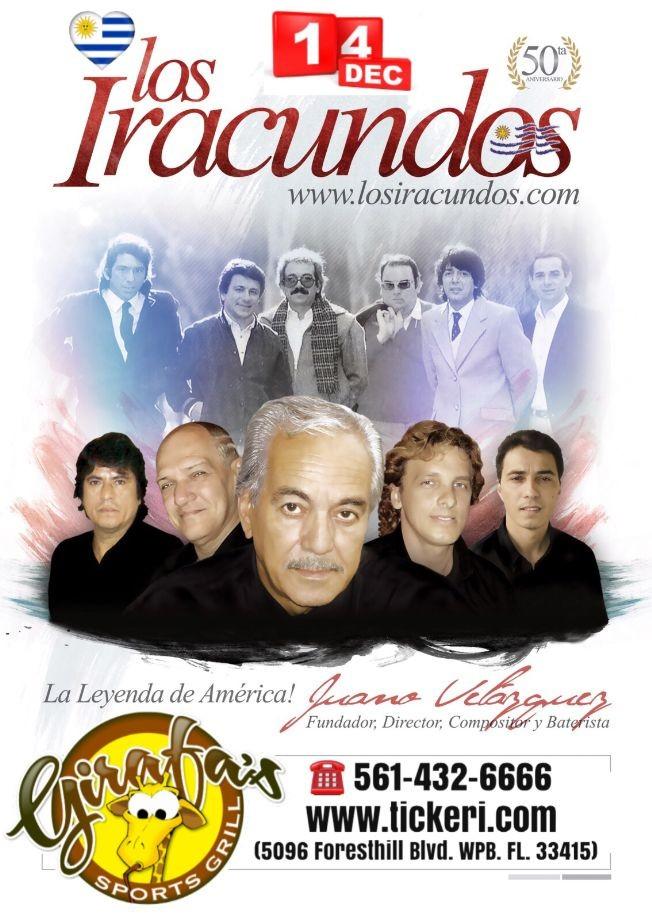 Flyer for BALADA: Los IRACUNDOS en Concierto en GIRAFA'S !!!