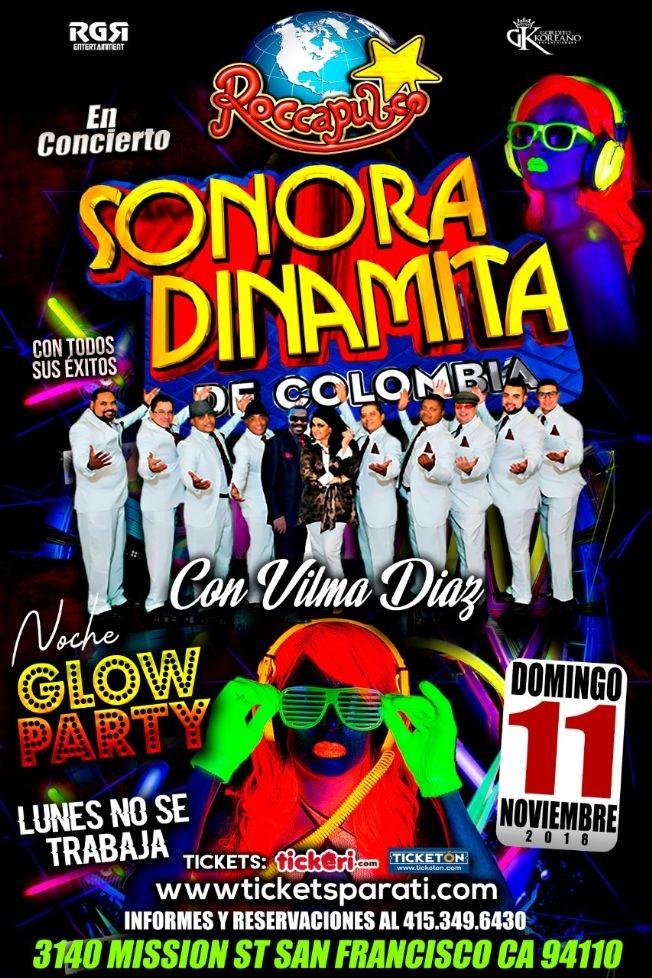 Flyer for La Sonora Dinamita en San Francisco