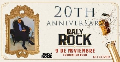 Flyer for Raly Rock 20 Year Anniversary