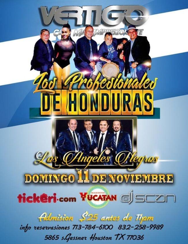 Flyer for LOS PROFESIONALES DE HONDURAS EN HOUSTON, TX