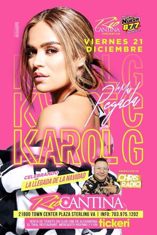Flyer for KAROL G EN STERLING, VA