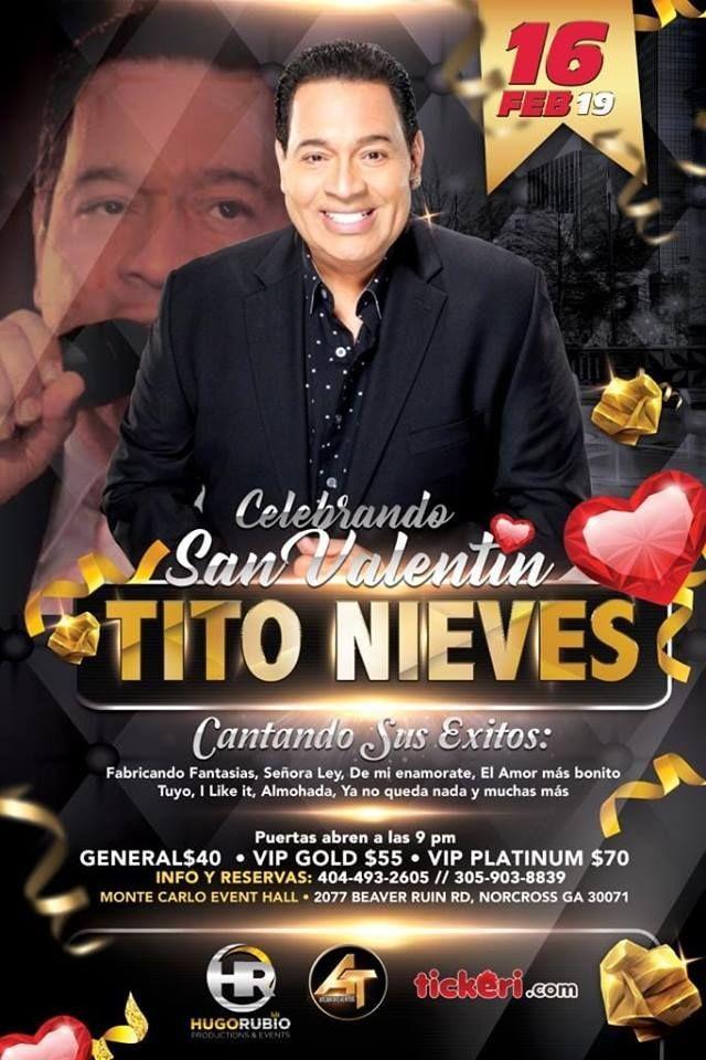 Flyer for Tito Nieves Celebrando el Dia del Amor