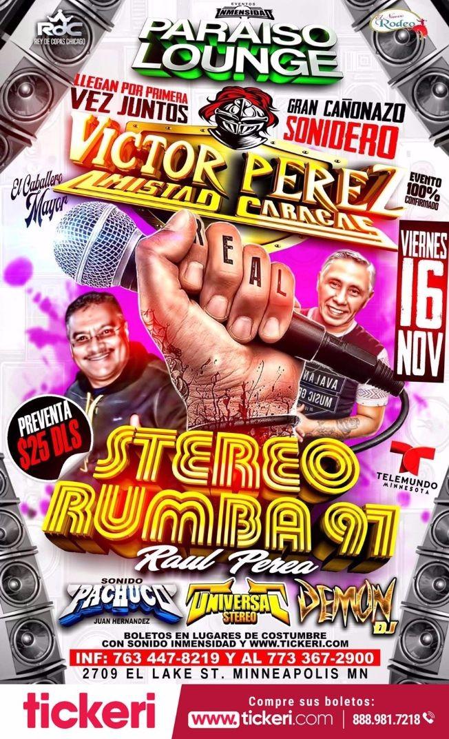 Flyer for STEREO RUMBA 97 EN MINNEAPOLIS, MN