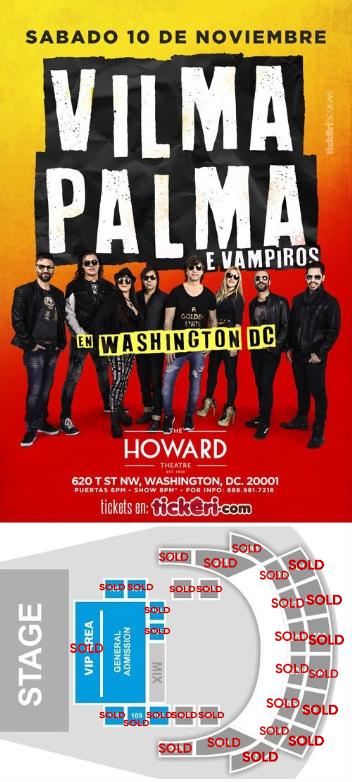 Flyer for Vilma Palma e Vampiros en Washington DC