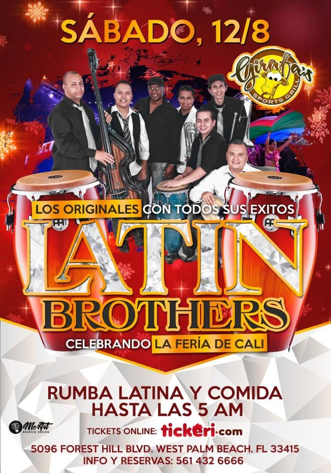 Flyer for Los Originales Latin Brothers en WPB,FL
