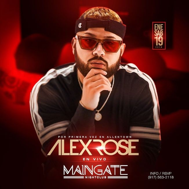 Flyer for Alex Rose Live