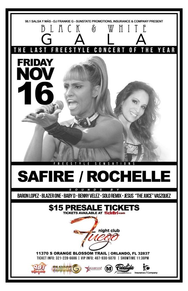 Flyer for Freestyle Concert Series Featuring Safire