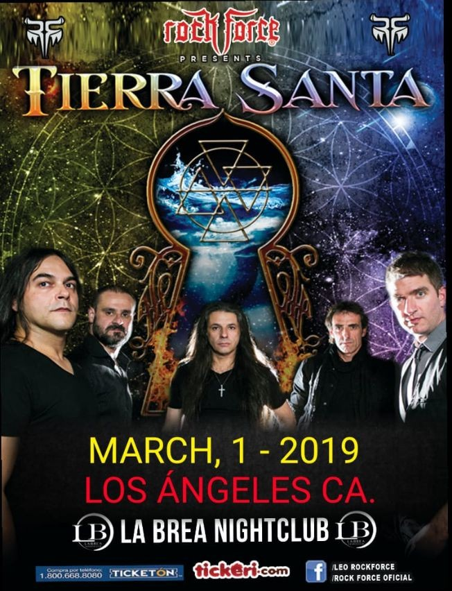 Flyer for TIERRA SANTA EN CA