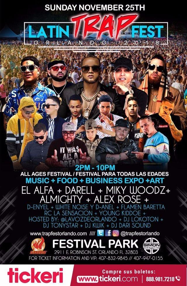 Flyer for Latin Trap Fest En Orlando,FL