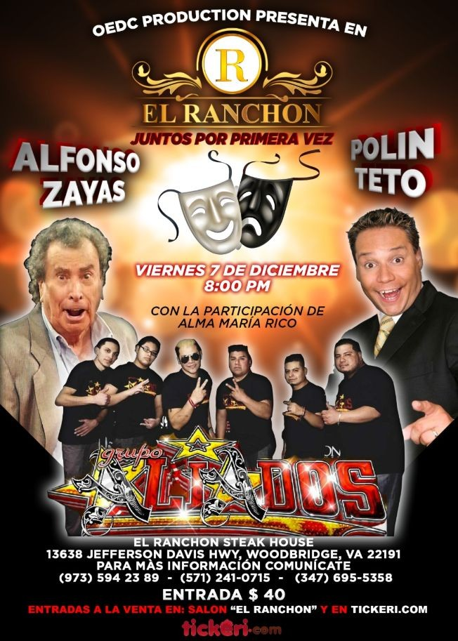 Flyer for ALFONSO ZAYAS Y POLIN TETO