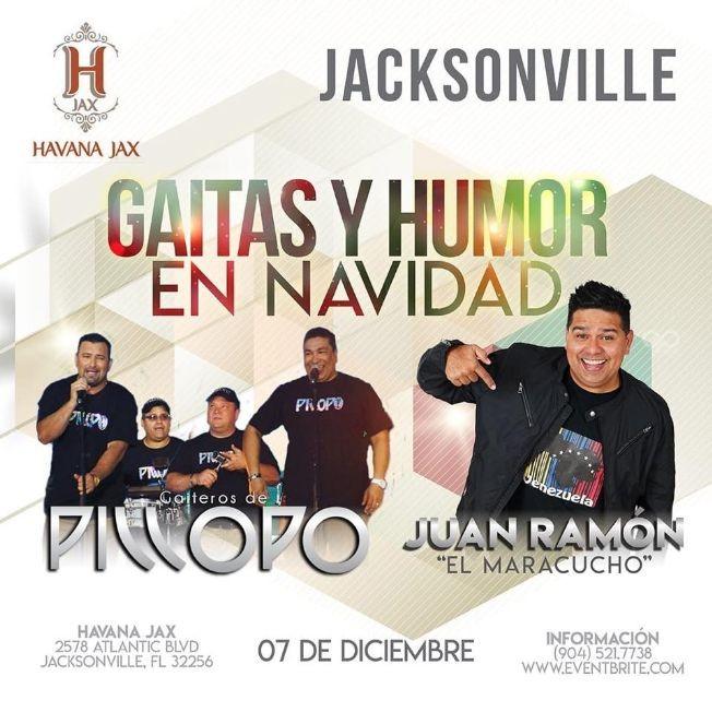 Flyer for Gaitas y Humor en Navidad