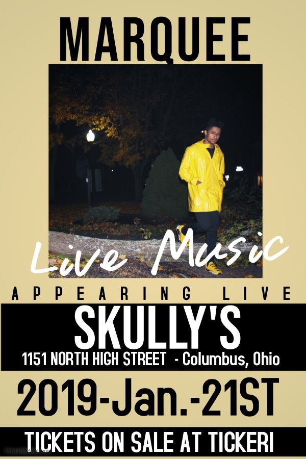 Flyer for MarQuee at Skully's (Colombus, Ohio)