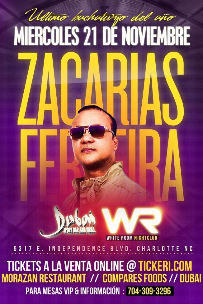 Flyer for Zacarias Ferreira en Charlotte,NC
