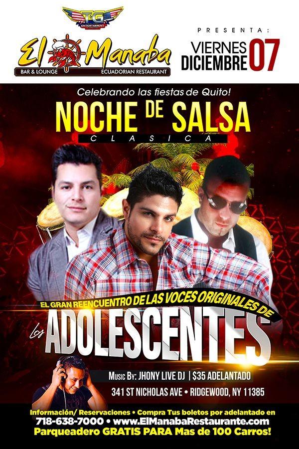 Flyer for LOS ADOLESCENTES EN CONCIERTO