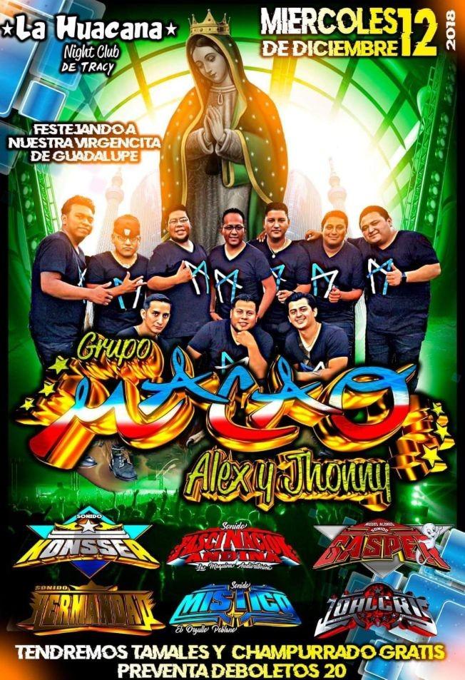Flyer for Grupo Macao de Alex y Jhonny en Tracy,CA