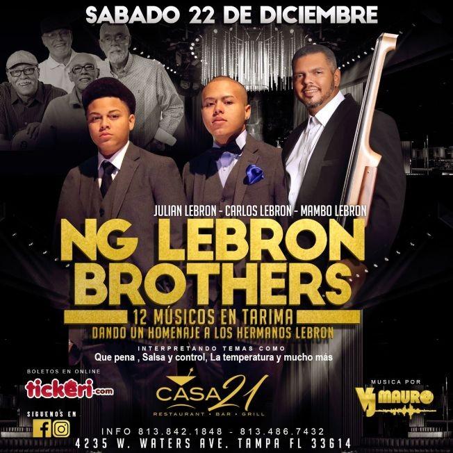 Flyer for NG Lebron Brothers en Tampa,FL