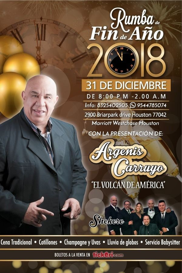 Flyer for Rumba de Fin de Año 2018 en Houston,TX