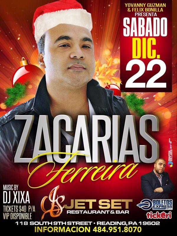 Flyer for Zacarias Ferreira en Reading,PA