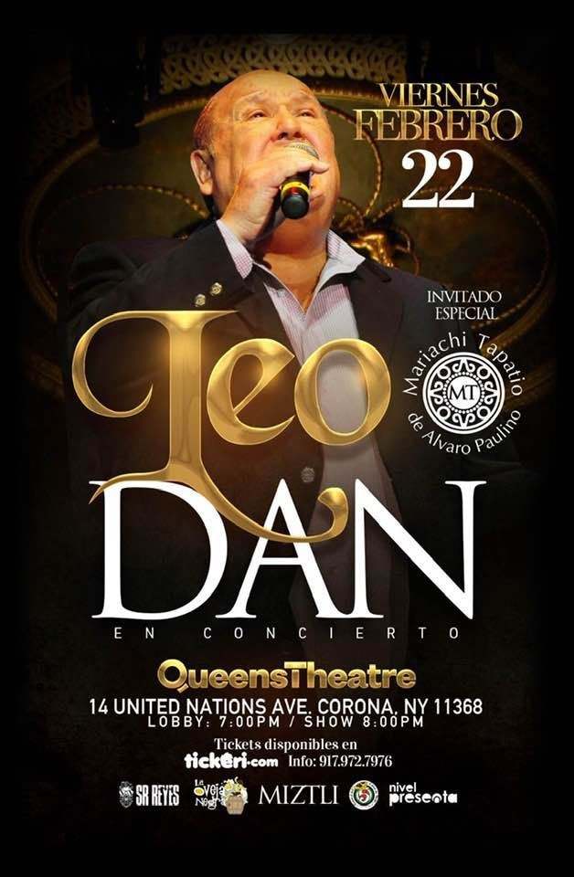 Flyer for Leo Dan en Queens,NY /// SOLD OUT!!!