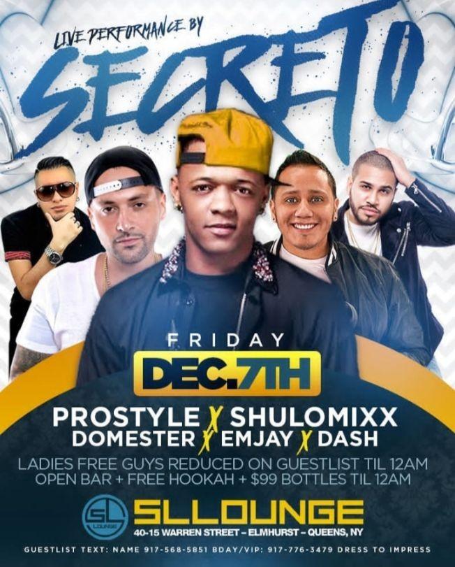Flyer for Secreto El Famoso Biberon Live With DJ Prostyle At SL Lounge
