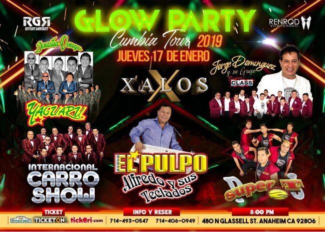 Flyer for Glow Party Cumbia Tour en Anaheim