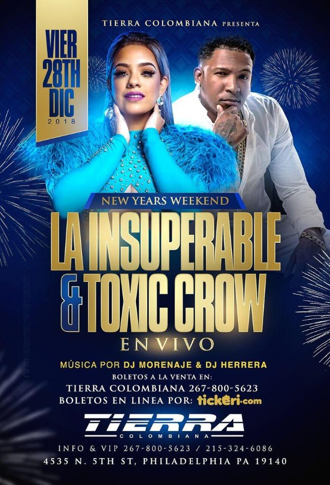 Flyer for La insuperable & Toxic crow