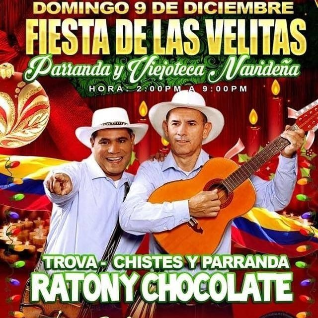 Flyer for Gran Parranda Navideña2018 con Raton y Chocolate en Tampa,FL