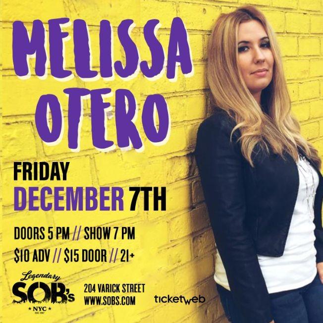 Flyer for Melissa Otero Live!