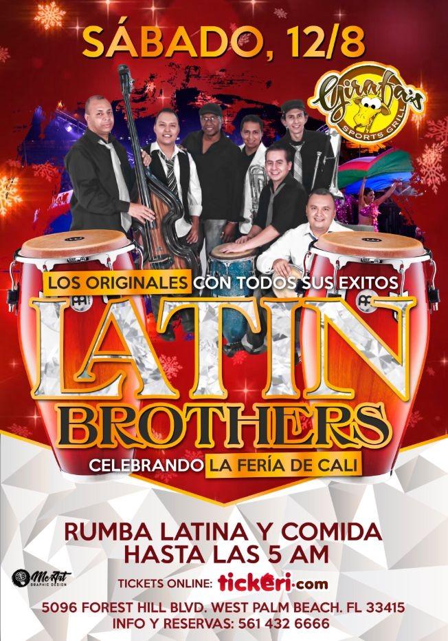 Flyer for SALSA: LATIN BROTHERS en CONCIERTO en GIRAFA'S !!!