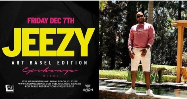 Flyer for Art Basel Weekend Young Jeezy Live At Exchange Miami
