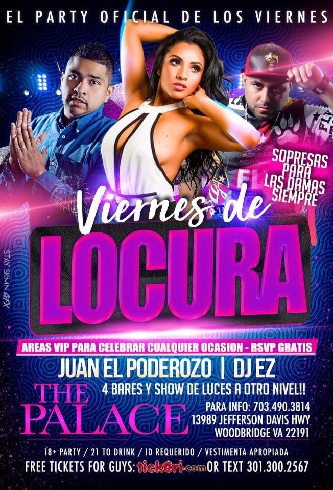 Flyer for Viernes De Locura En Woodbridge,VA