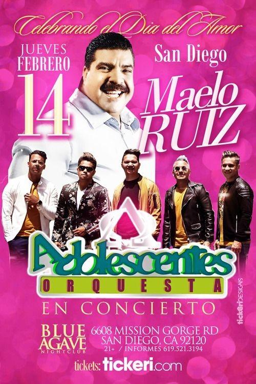 Flyer for MAELO RUIZ Y ORQUESTA ADOLESCENTES EN SAN DIEGO