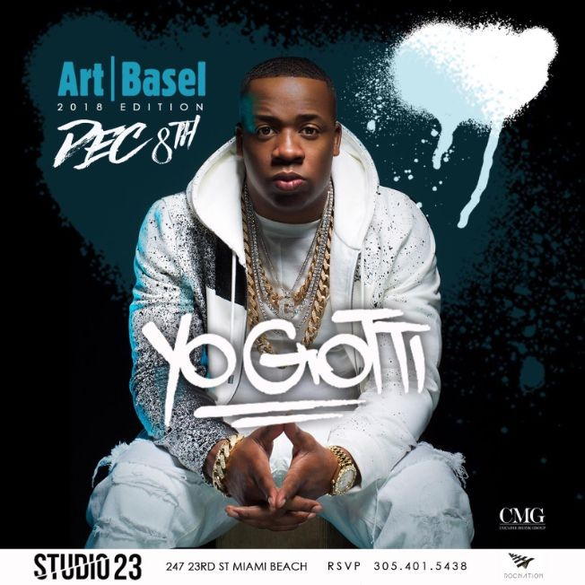 Flyer for Art Basel Edition Yo Gotti Live At Studio 23