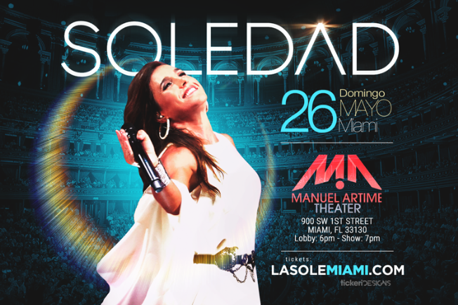 Flyer for Soledad en Miami