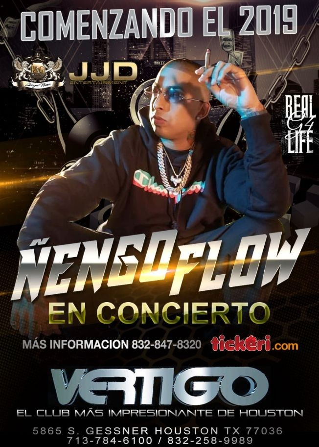 Flyer for Ñengo Flow-CANCELADO