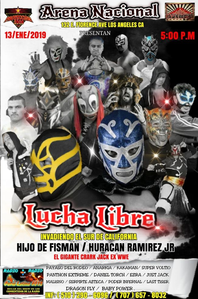 Flyer for LUCHA LIBRE MEXICANA