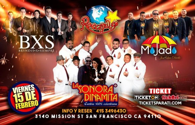 Flyer for Bryndis X Siempre, Grupo Mojado y La Sonora Dinamita