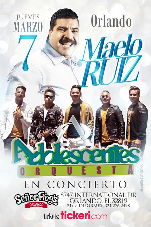 Flyer for MAELO RUIZ Y ORQUESTA ADOLESCENTES EN ORLANDO