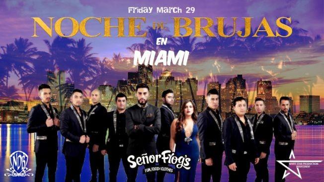 Flyer for Noche de Brujas en Miami-CANCELADO