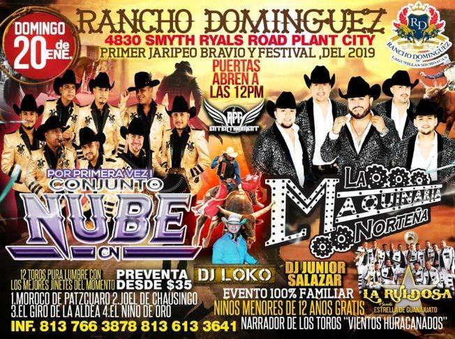 Flyer for GRAN JARIPEO Y FESTIVAL RANCHO DOMINGUEZ