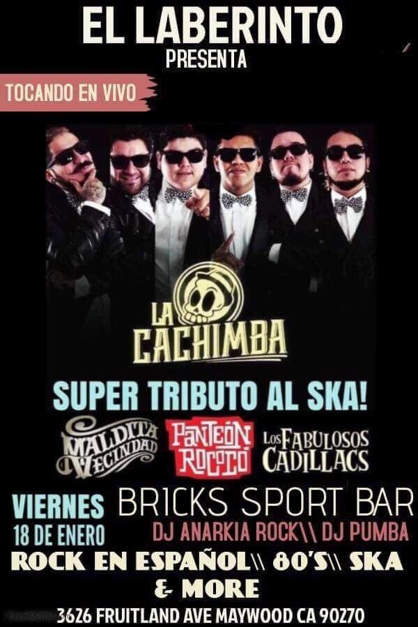 Flyer for Fabulosos Cadillacs\ Panteón Rococo\ Maldita Vecindad Live Tributes!!