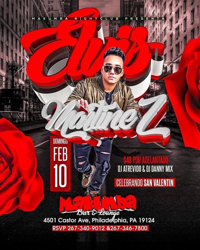 Flyer for Elvis Martinez en Philadelphia,PA