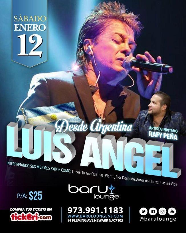"""Flyer for LUIS ANGEL """"El Idolo de Todos los Tiempos"""""""