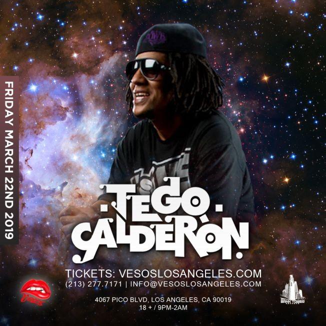 Flyer for Vesos LA Presents: Tego Calderon (Friday Concert) Age 18+