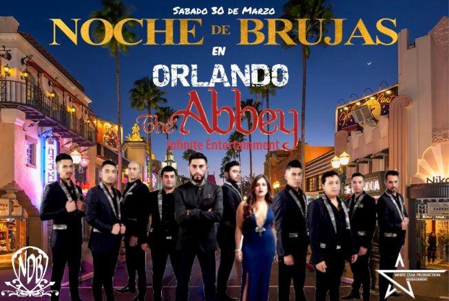 Flyer for Noche de Brujas en Orlando-CANCELADO