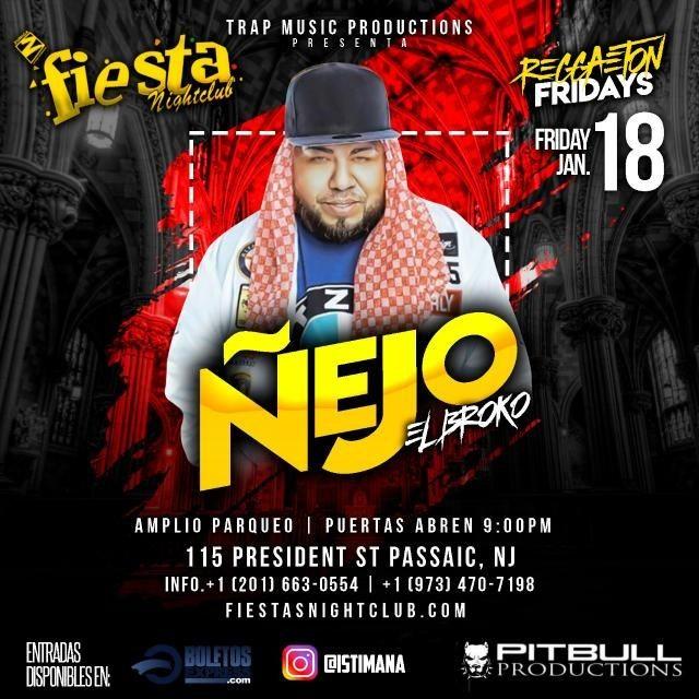 Flyer for Nejo Live At Fiesta Nightclub