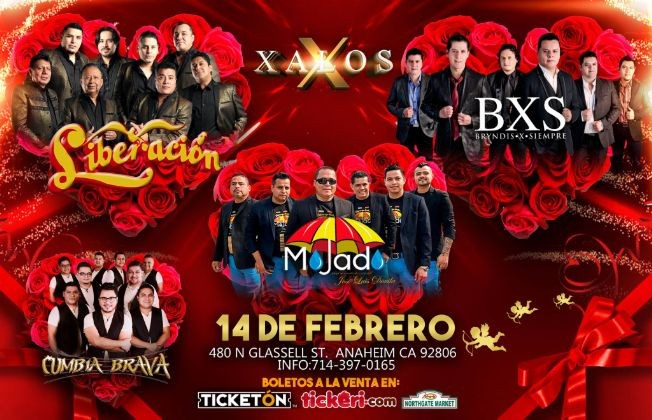 Flyer for Liberación, BXS y Mojado en Anaheim