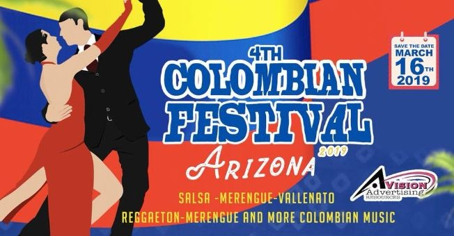 Flyer for 4th Colombian Festival Arizona
